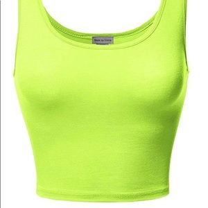 Neon Crop tops (2) I have two. Never before worn.
